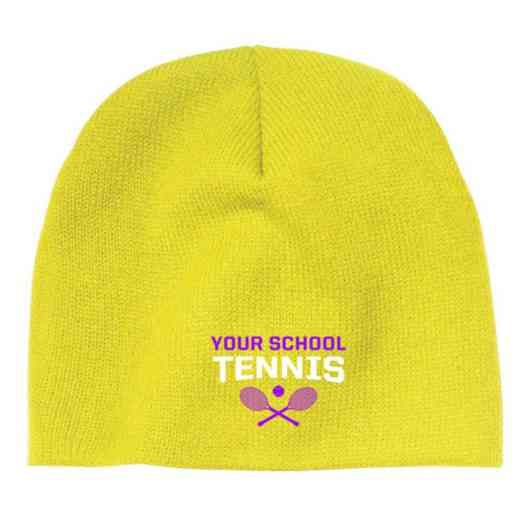 Tennis Embroidered Knit Beanie Cap